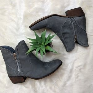 Steve Madden Zipster ankle boot in gray